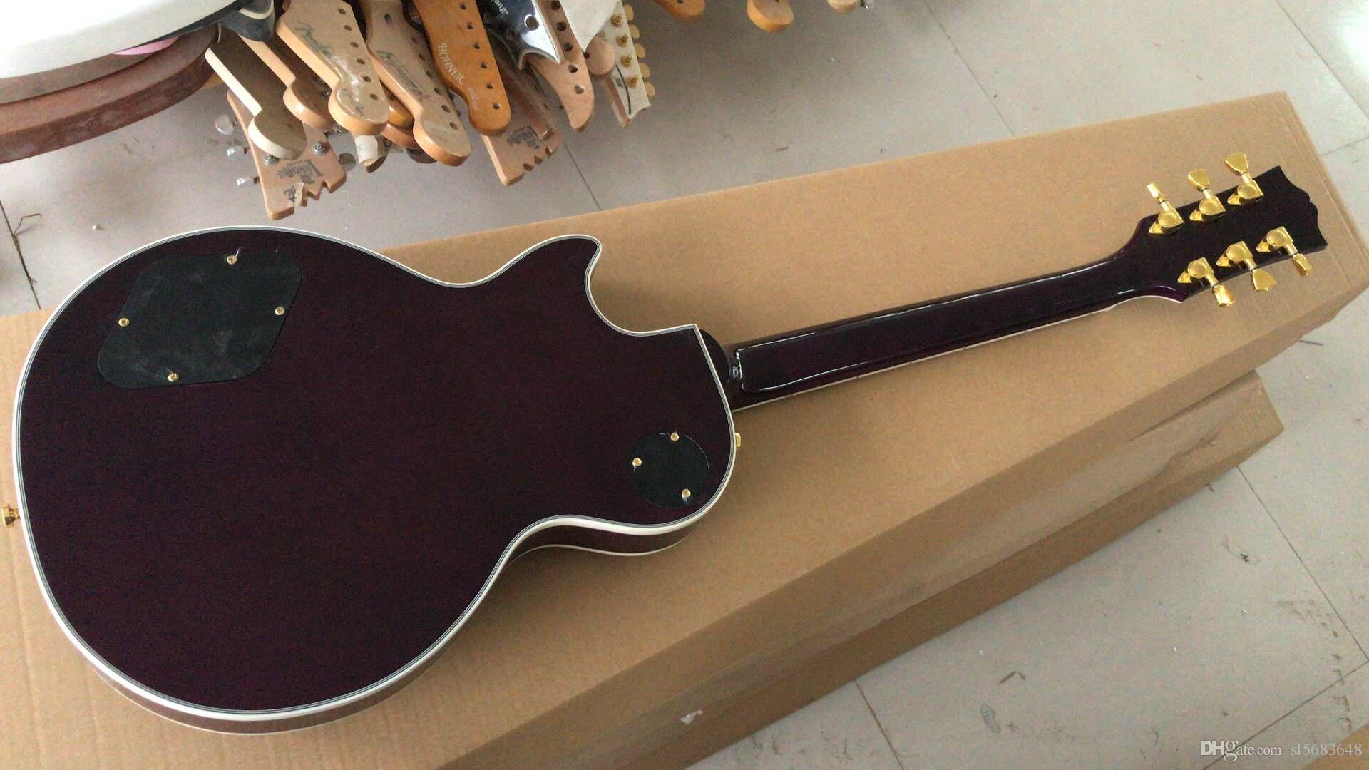 ! Wholesale Custom 6 String Electric Guitar in purple .rosewood fringerwood, hot selling Musical instrument,180315