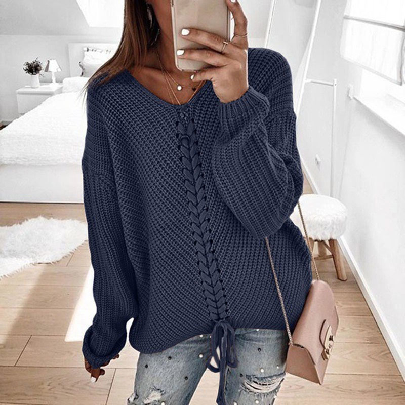 Plus size women pullover sweater spring autumn jumper women tops clothes casual loose fall knitted sweaters ladies 2019 DR897 (2)