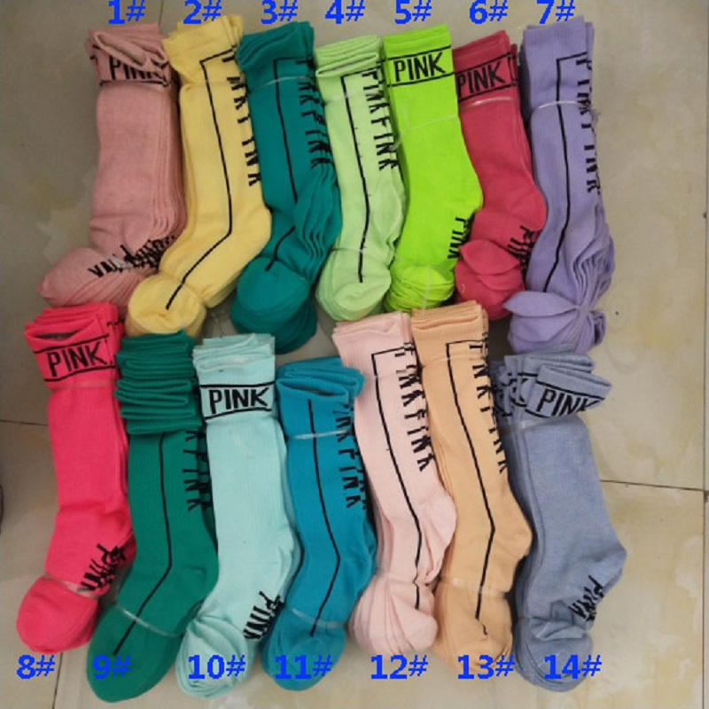 Women High Ankle Cotton Crew Socks Happy New Year Picture Casual Sport Stocking