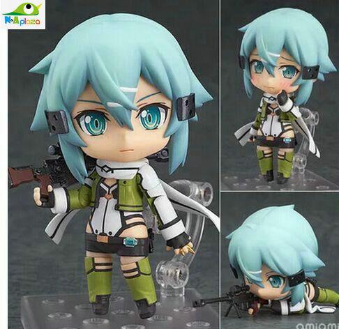 Sword Art Online II Asada shino The GGO Snipers Nendoroid 452 Anime PVC Action Figure Model Toy