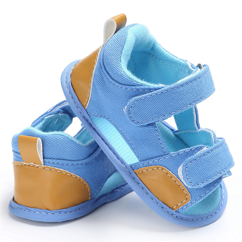 Summer Baby Shoes For Boys Girls Toddler Infant Kids Baby Boys Girls Solid Canvas Sole Crib Shoes Anti-slip Sandals Shoes M8Y11 (8)