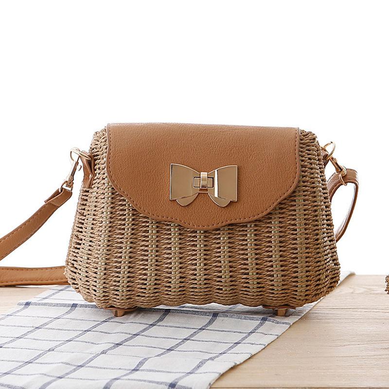 Women Straw Bag Female Bohemian Bali Rattan Beach Shoulder Bag Lady Handmade Candy Color Crossbody Bags Basket Bolsa SS3148 (3)