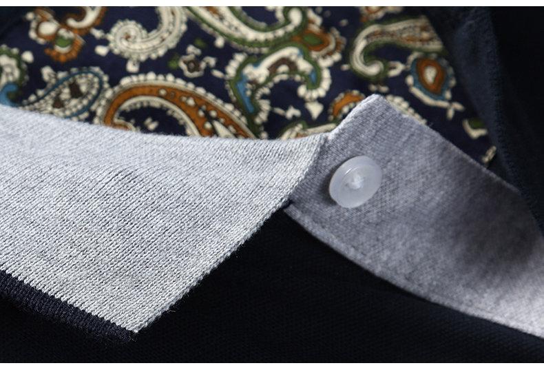 Summer mens polo shirt Cotton polka dot short male polo men top tee quick dry size M-3XL Muls brand fashion Black White Gray1613-05