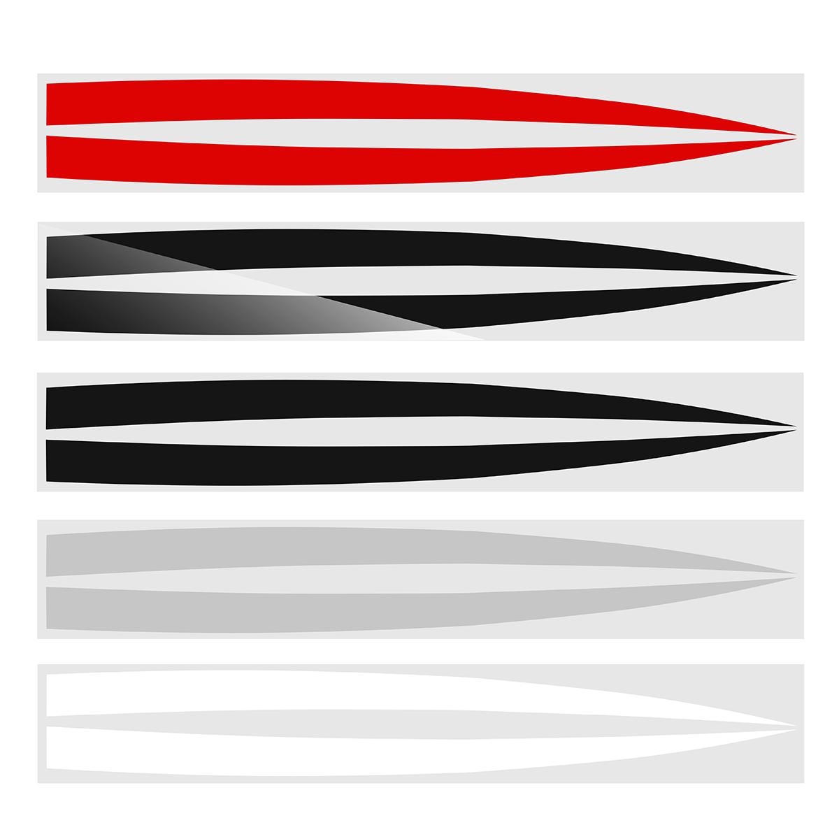 Bonnet Hood Stripe Vent Panel Sticker Decals For Chevrolet Camaro 2010-2015 Glossy Black/ Matte Black/ Gray Sliver/ White/ Red