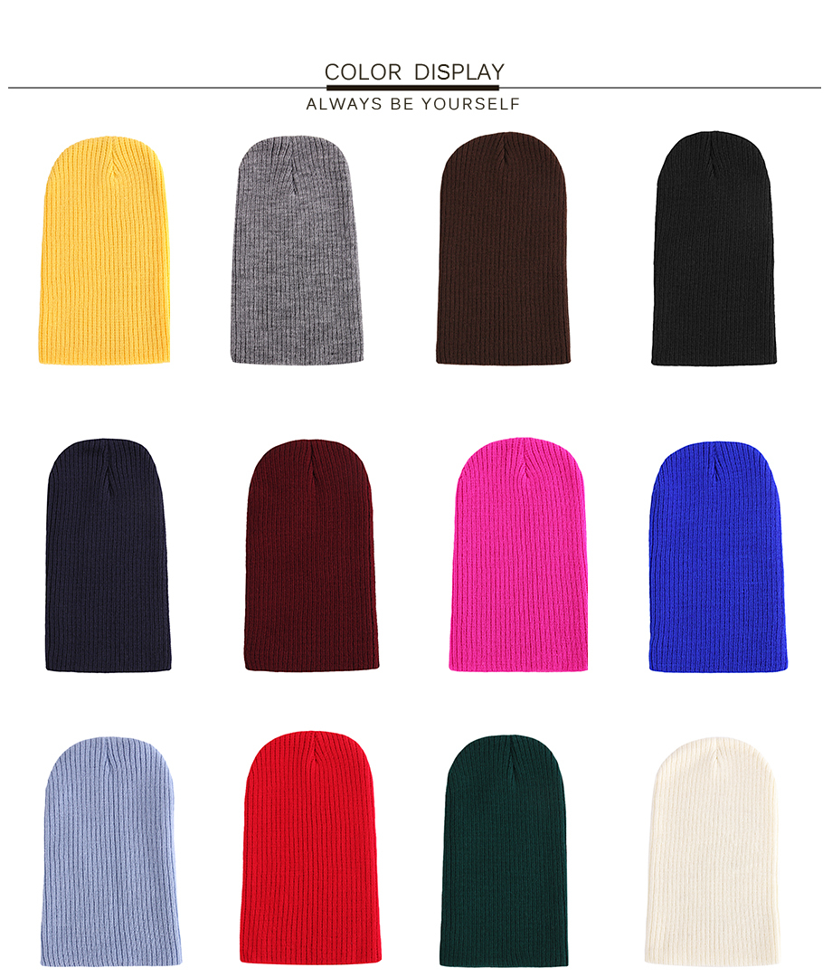 4Autumn Winter Cap Men Women Solid Color 2018 New Casual Brand High Quality Fashion Beanies For Girls