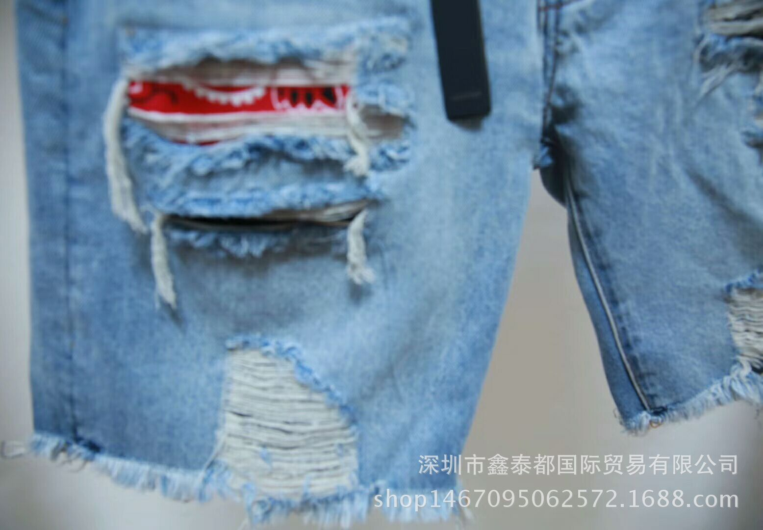 Dear2019 Мужской Хип-хоп Качественный Фонд Отверстия Патч Ковбойские Шорты Kanye Свободное время Все изношенные нищие брюки