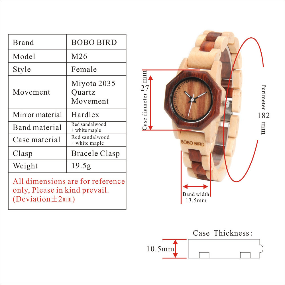 M26 woman watches 2017