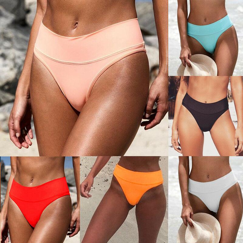 Damen Kurze Hose Unterseite Rüschen Badebekleidung Sommer Beachwear Hohe Taille