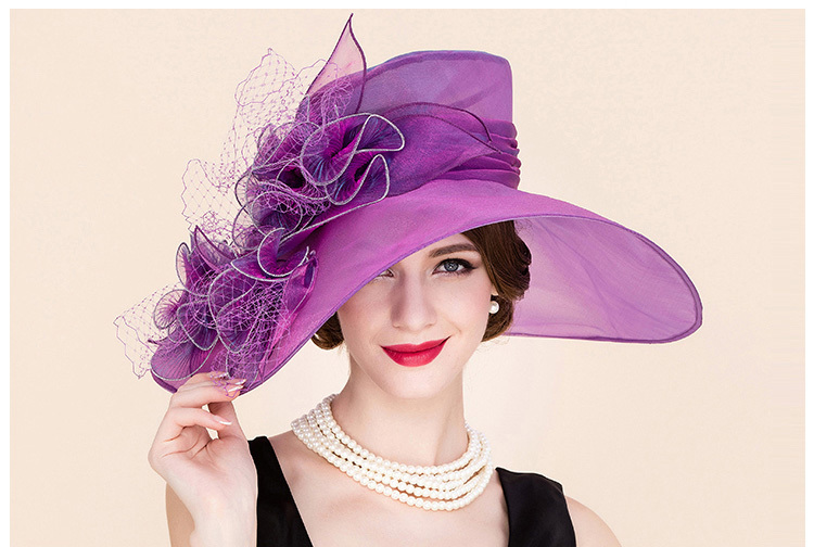 1_organza hats for women