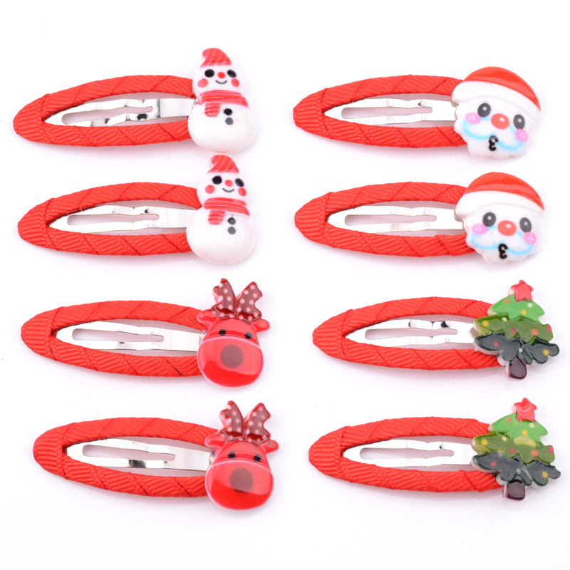 New Fashion Children's Hair Accessories Cartoon Hairpins Christmas Santa Claus Barrettes Hair Clips For Girls Headdress