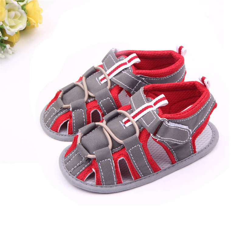 Summer Baby Shoes Fashion Newborn Toddler Infant Baby Boys Girls Color Splice Canvas Soft Sole Anti-slip Sandals Shoes M8Y16 (2)