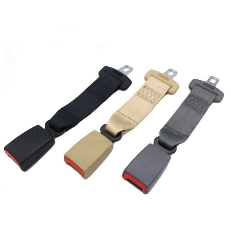 wide buckle Beige color 14 Inch Seat Belt Extension Extender for 21mm 7//8inch