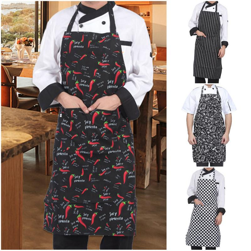 Extra Long Tie Kitchen Apron with 2 Pockets Resistant to Droplets Waist Apron Merry Christmas Santa Claus Bib Apron