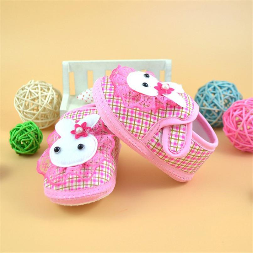Baby Shoes Newborn Girl Boy Cartoon Rabbit Soft Sole Crib Toddler Shoes Canvas First Walker NDA84L24 (2)