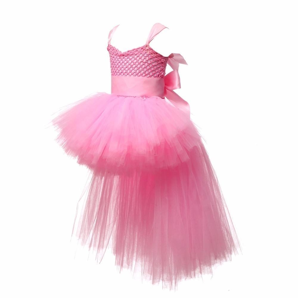 Tutu Vestido Do Bebê Meninas Meninos Prom Dress Strap Nova 2019 Branco Preto Rosa Flor Tutu Handmade Princesa Macia Malha Tule Vestido Y190516