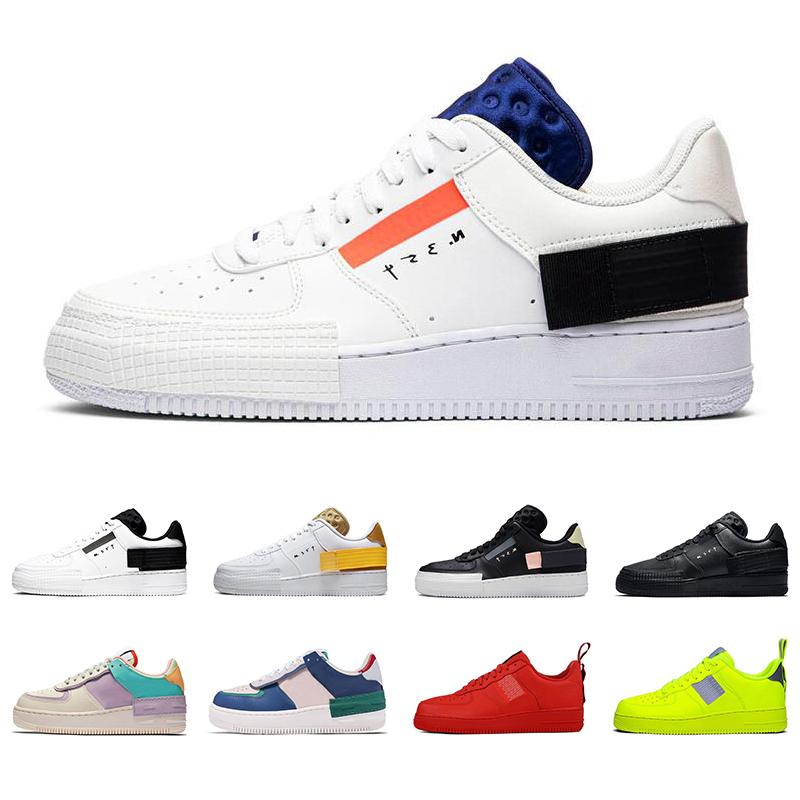 2020 nike air force 1 hommes femmes chaussures de course type ombre utilitaire triple noir Summit blanc Mystic air marine hommes formateur mode sport