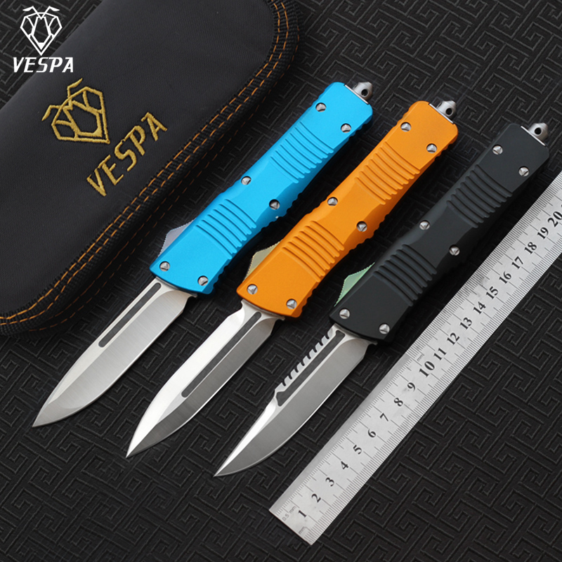 survival VESPA camping knives satin S35VN tools High blade(S/E.D/E),Handle:Aluminum,Outdoor EDC quality Ecdrb