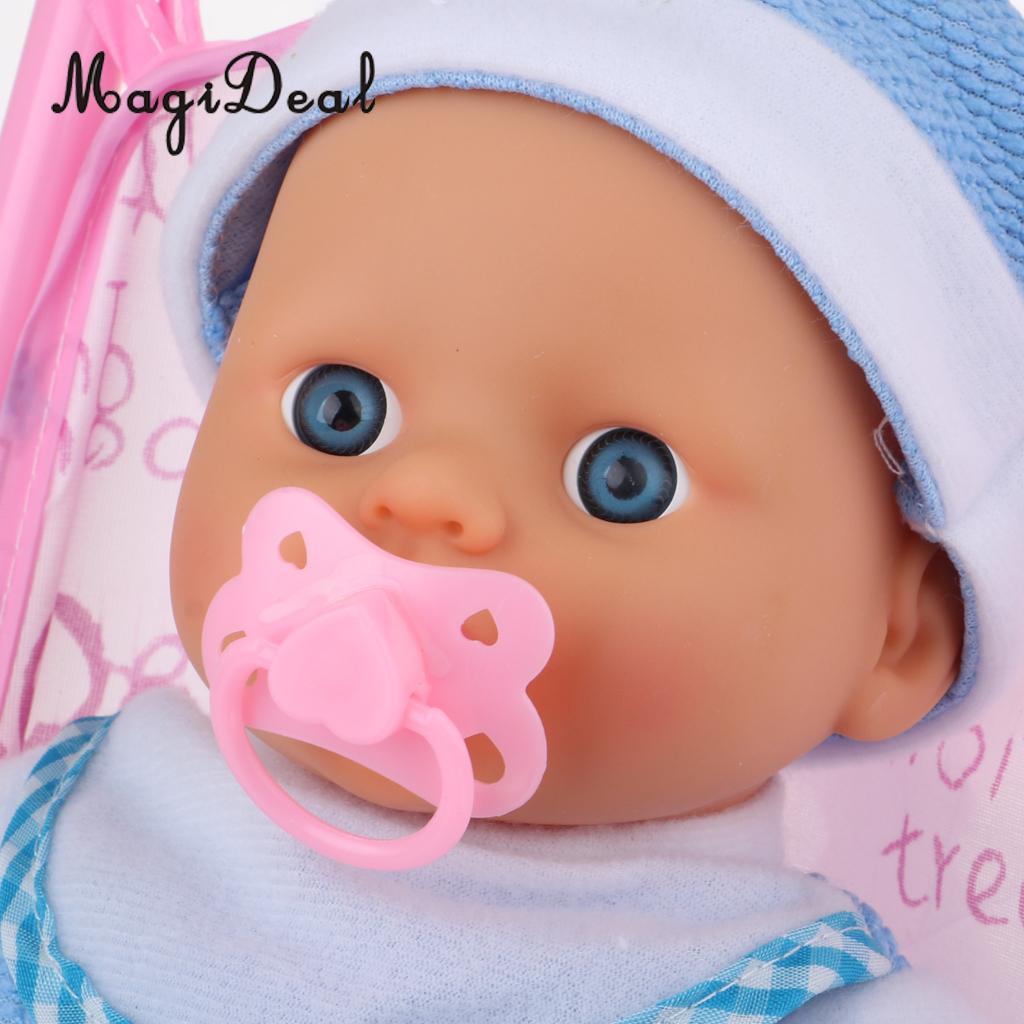 Foldable Umbrella Doll Stroller with Handles Baby Trolley & Mini Newborn Baby Doll For Reborn Doll Simulation Nursing Accessory