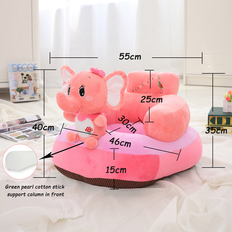 Cute Soft Stuffed Plush Toy Animal Toys Infant Back Support Learning Sit Safety Baby Sofa Feeding Chair Seat Kid Gift Q190521