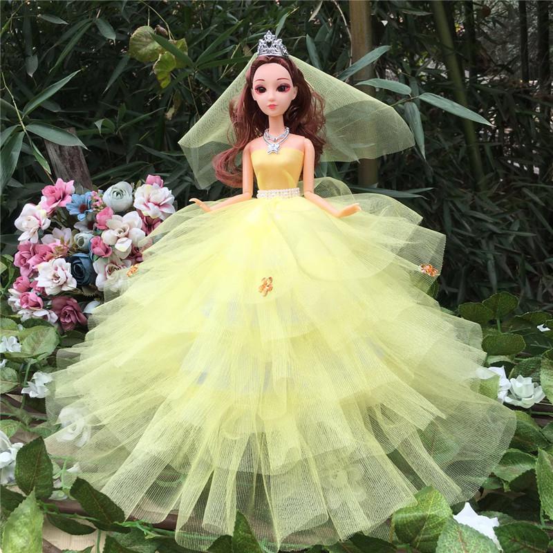 Zi Aini Wedding Dress Barbie Doll Doll Suit Doll Bride Clothes