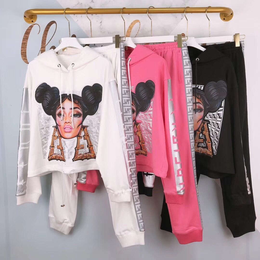 top quality women two piece outfits women jackets sweatshirts pants sets 20191122-5012#2159