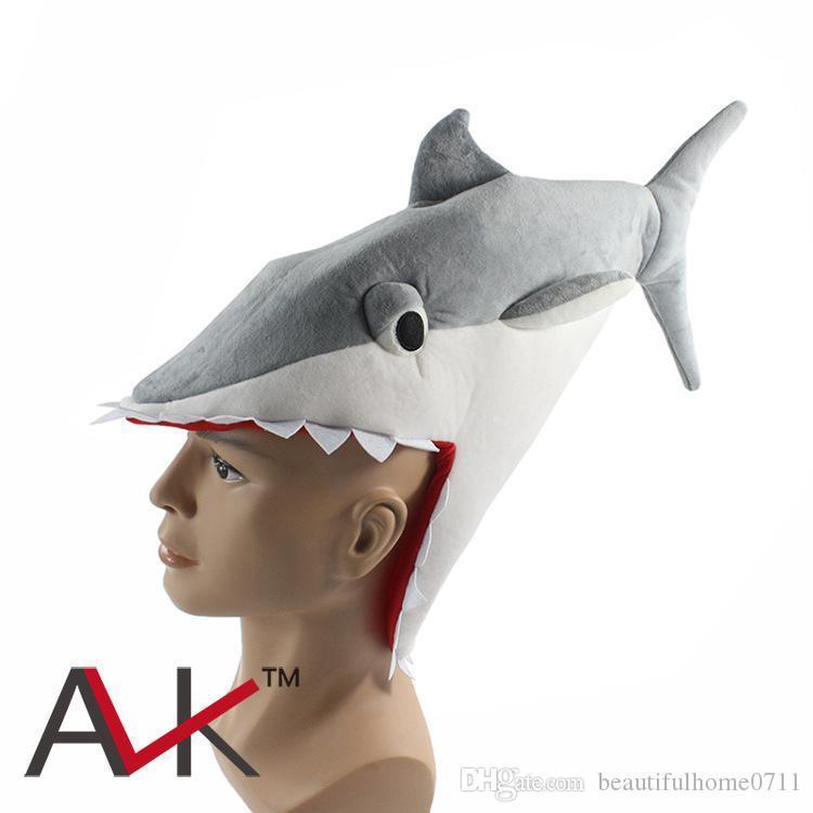 Mens Novelty Man Eating Shark Fancy Dress Funny Jaws Costume