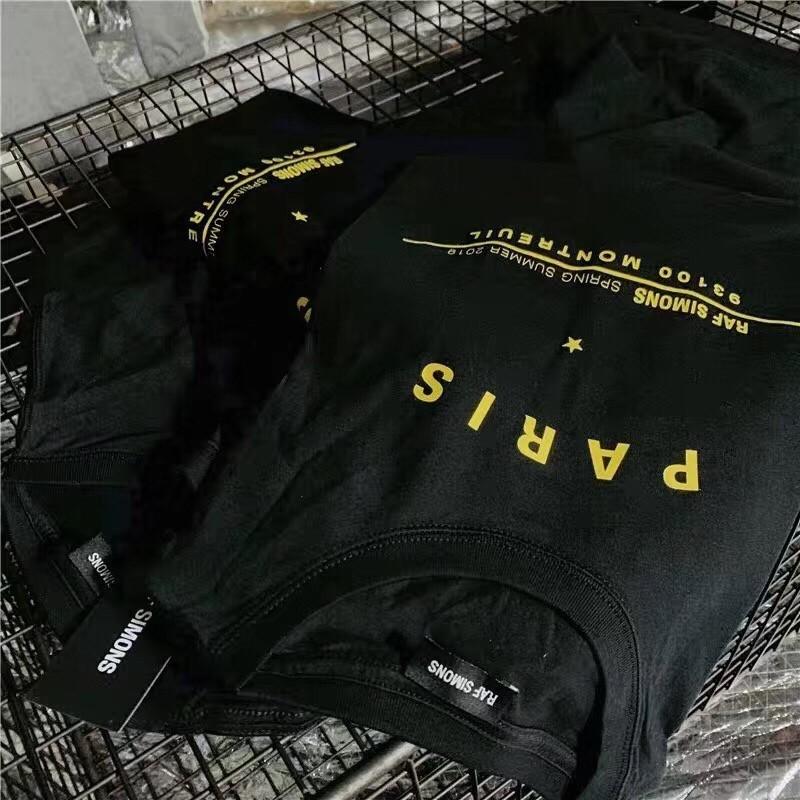 19SS RAF SIMONS T-shirt Fashion High Street Retro Loose Casual Cotton Round Neck Men And Women Couple Designer Short Sleeve HFWPTX326