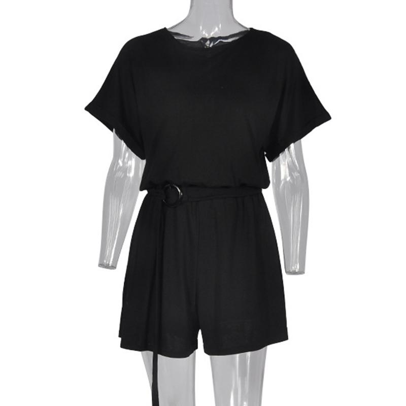 Forefair Linen Shorts Jumpsuit Summer Wide Leg (10)