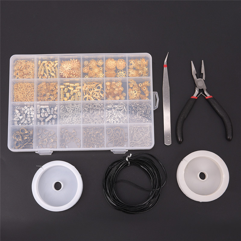 Wire Jewelry Making Starter Kit Sterling Silver Gold Repair Tools Craft Supplies 20cmx25cm