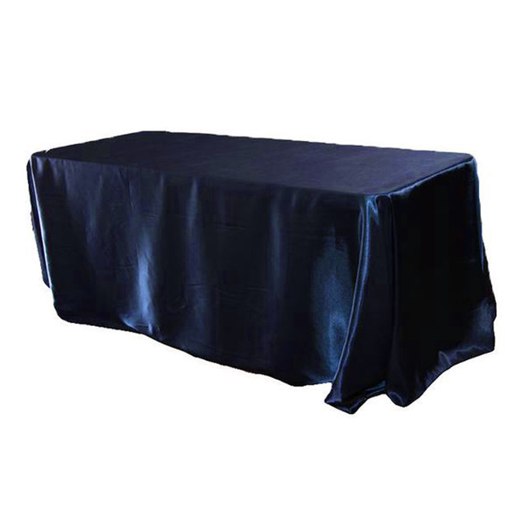 145x320cm White/black Tablecloths Table Cover Rectangular Satin Tablecloth For Wedding Birthday Party Hotel Banquet Decoration T8190620