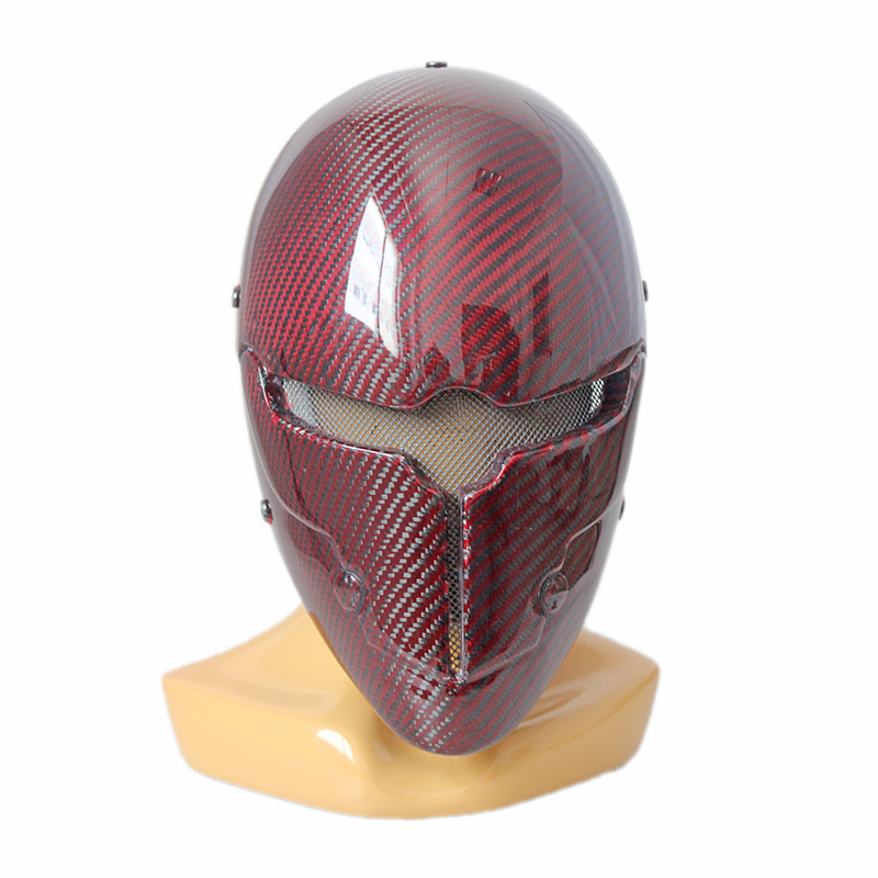 Arrow Deathstroke Double Eyes Mask Halloween CS Field FRP Adult Cosplay Helmet