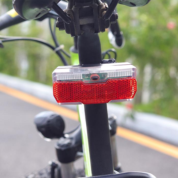 YKWYQ Luz de Bicicleta Rojo Posterior de la Bicicleta Ligera Uso 2pcs Pilas AAA Posterior de la Bici portaequipajes luz de la l/ámpara con la Bicicleta Ciclismo Reflector Luces de Bicicleta