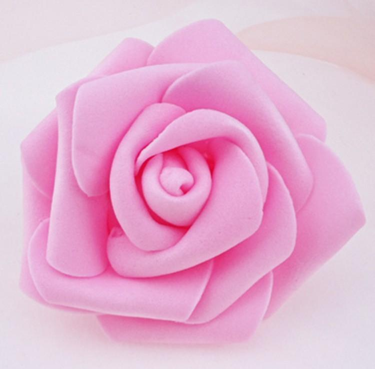 High Quality 50pcslot 7cm Foam Rose Heads Real Touch New PE Kissing Balls For Weddings DIY Wedding Table Centerpieces 8 Colors (4)