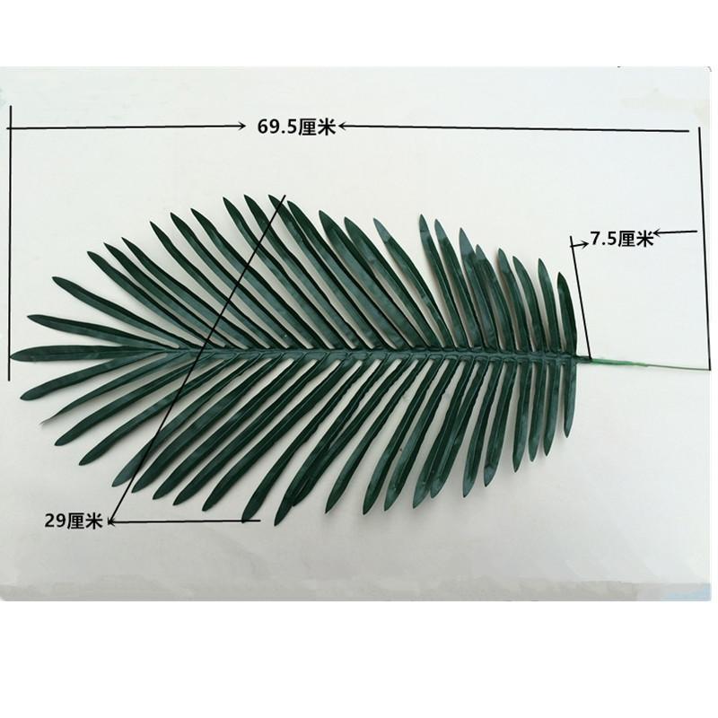 69cm Long Artificial Palm Leaves Green Plants Decorative / Artificial Flowers for Party Decoration Wedding Decoration C18112601