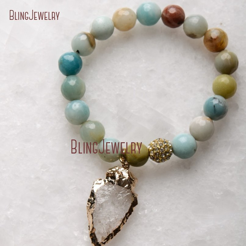 20181201-BM17426-Latest Arrowhead Clear Crystal Bracelet On Sale_28