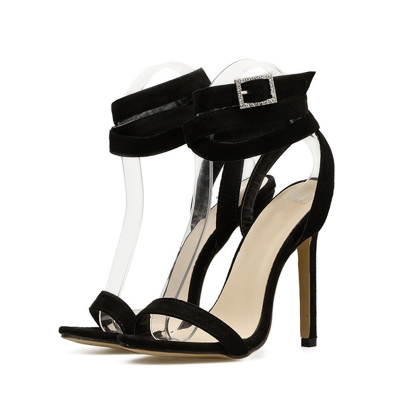 High Heels Sandals Women Gladiator Summer Sexy Cross Strappy Stiletto Party Shoes Ladies Black Open Toe Ankle Strap Sandals