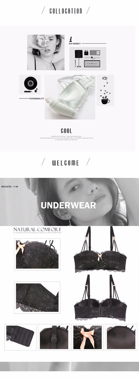Japanische Frauen Push Up BH Sexy Dessous Halbe Tasse Büstenhalter Stickerei Spitze Drahtlose Unterwäsche BHs Für Kleine Brüste Weiß Schwarz