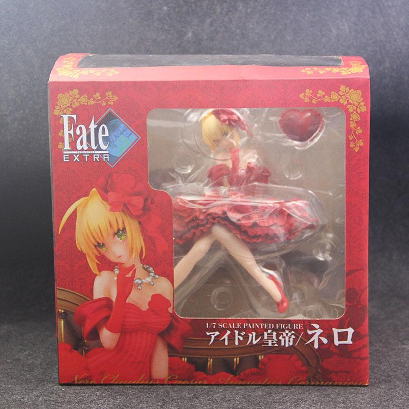 Fate Stay Night Extra Red Saber Nero Claudius Caesar Augustus Germanicus Idol Emperor 20cm Action Figure figurine (5)