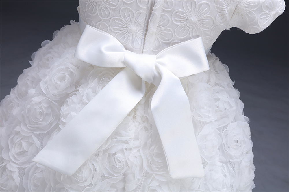 White Baby Dresses Girl Newborn 1st Year Birthday Infant Outfit Cute Princess Party Wedding Christening Dress Gown For Baby Girl (11)
