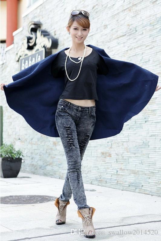 Vogue/Pop Tide Womens Fashion Wool Coat, Lady Noble Elegant Cape/Shawl. Lady Poncho Wrap Scarves Coat Nice