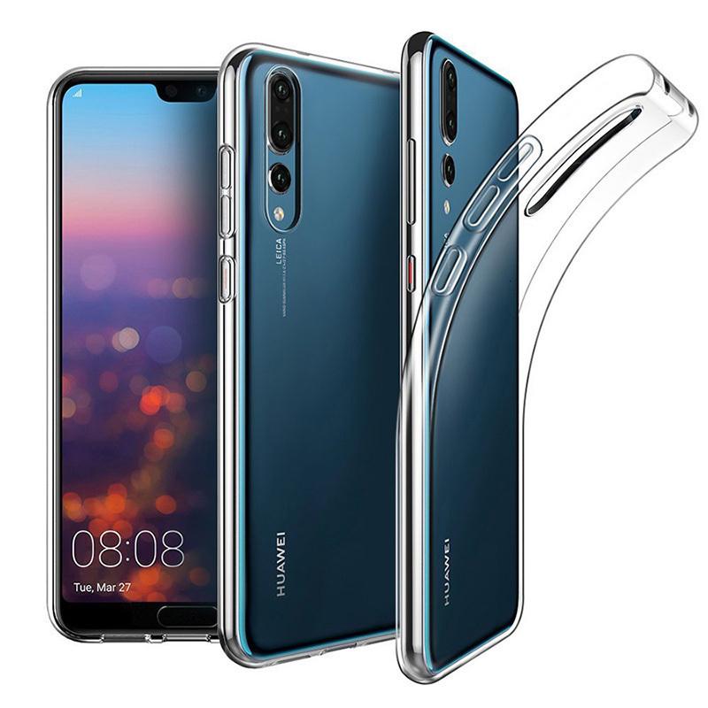 Per Huawei p Smart 2019 Y9 P20 Lite Carbon Fiber Soft TPU Custodia Antiurto Cover