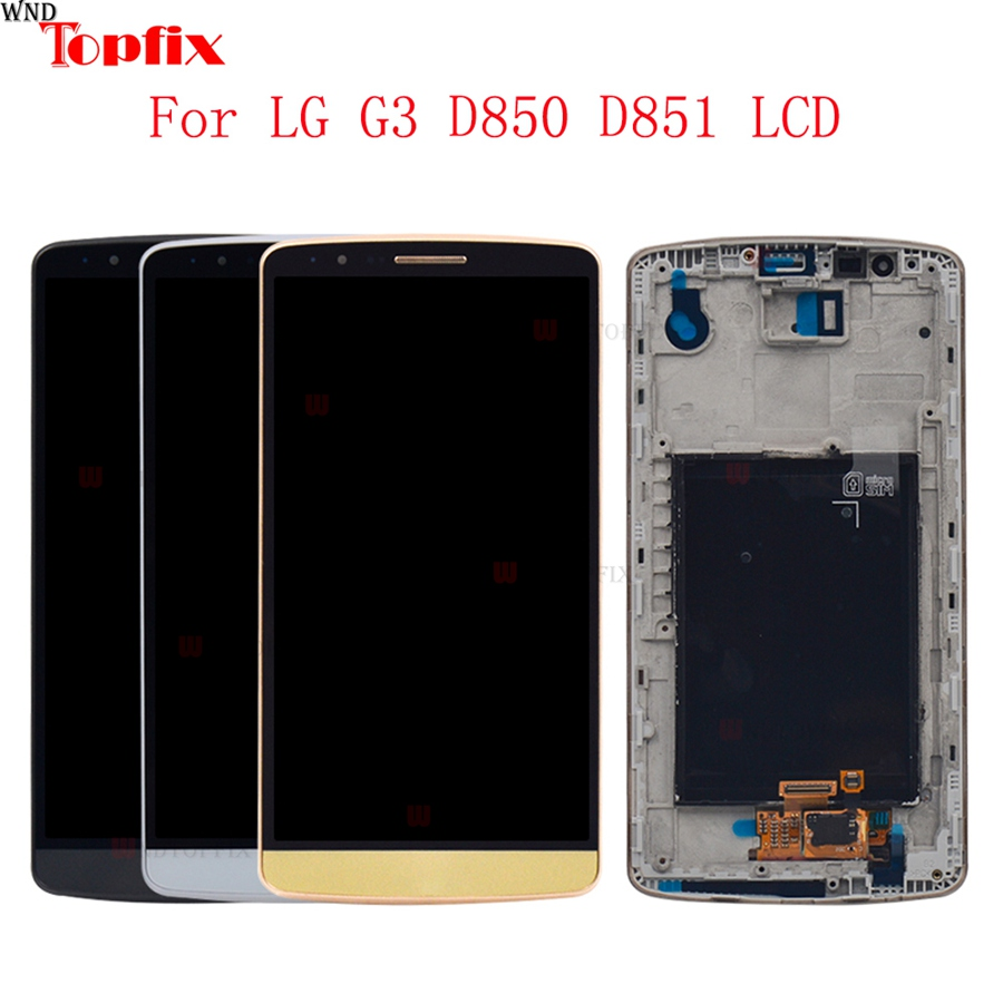 100% Tested 5.5inch LCD For LG G3 D850 D851 LCD Display Touch Screen Digitizer Assembly With Frame Pantalla Replacement Parts (6)