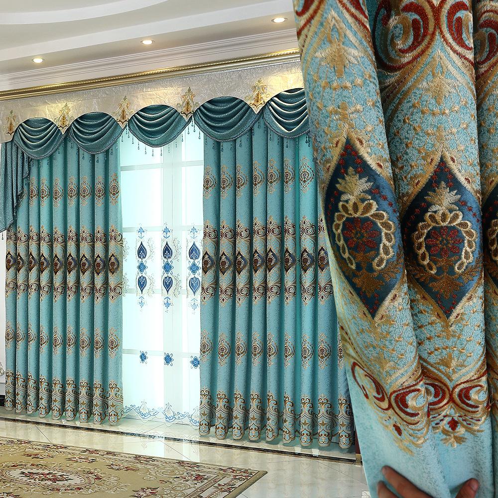 Rideau Pour Salle A Manger Moderne broderie minimaliste moderne, rideaux d'ombrage pour le salon de la salle à  manger