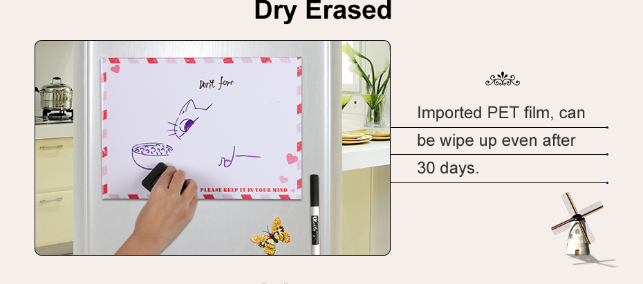 04 A4 Fridge Magnet Removable Erase Drawing Writing Planner Magnetic Board Fridge Message Board Magnets To Do List Memo Pad Notes
