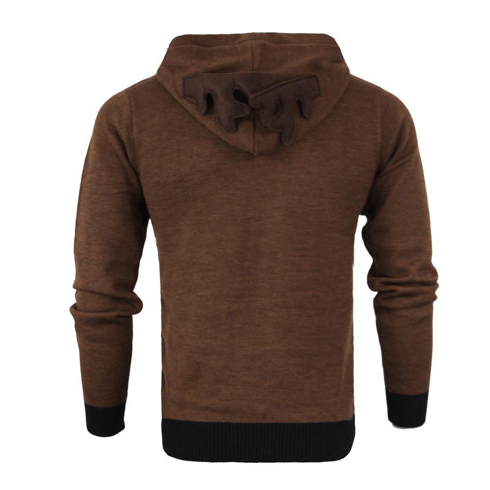2019 Hoodie Sweatshirt Brand Men Autumn Winter Hoody Feather Hooded Christmas Ear Hood Sweatshirts for Male