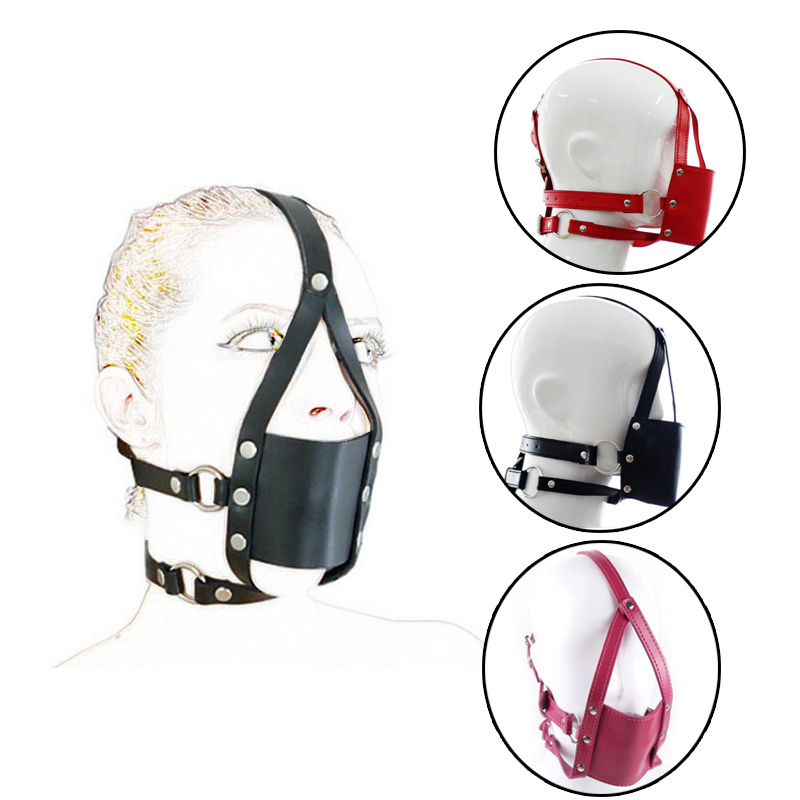 PVC Leather Transparent Harness Mouth  plastic hollow Ball Gag
