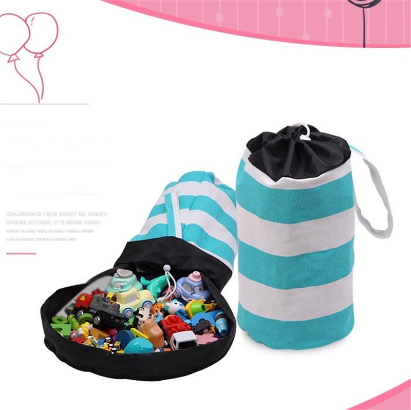 150 cm Almacenamiento de Juguetes para Organizador port/átil de Juguetes para ni/ños,beb/é plegable de almacenamiento de juguetes bolsa de ni/ños Rosa 60 Pulgadas
