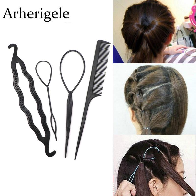 Frauen Hair Styling Clip Stick Bun Maker Braid Haaraccessoires High quality