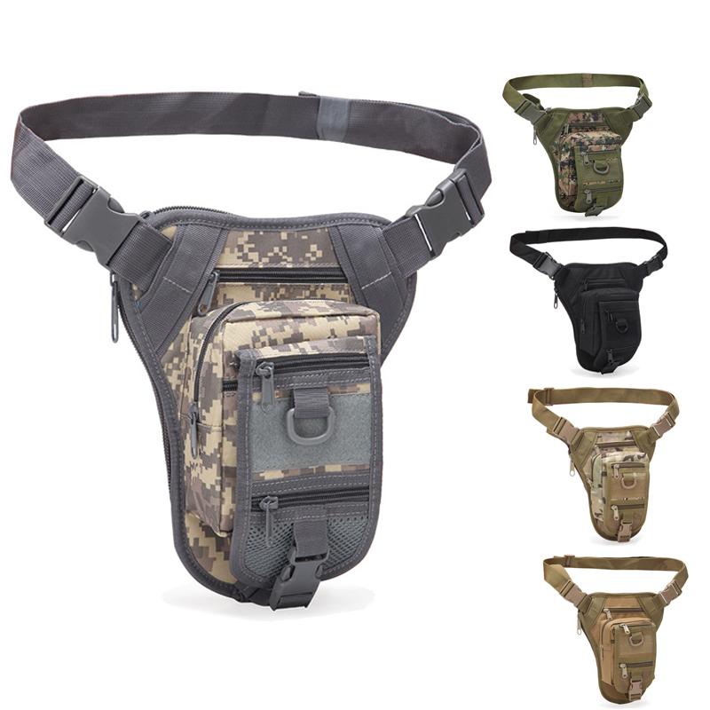 Tactical Army Drop Leg Bag Thigh Pouch Military Waist Belt Pack Outdoor Bag Pack