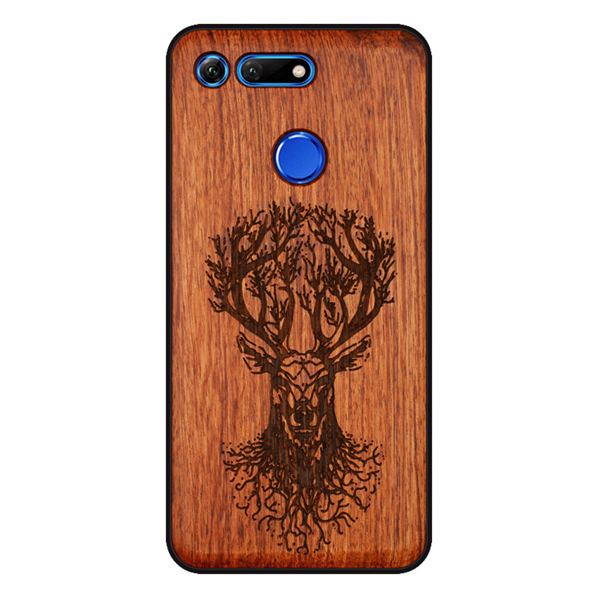 BOOGIC Original Wood Phone Case For Huawei Honor View 20 V20 V10 Wood +TPU Cover For Honor 8x Play 10 Ultra-Thin Wooden Coque (5)